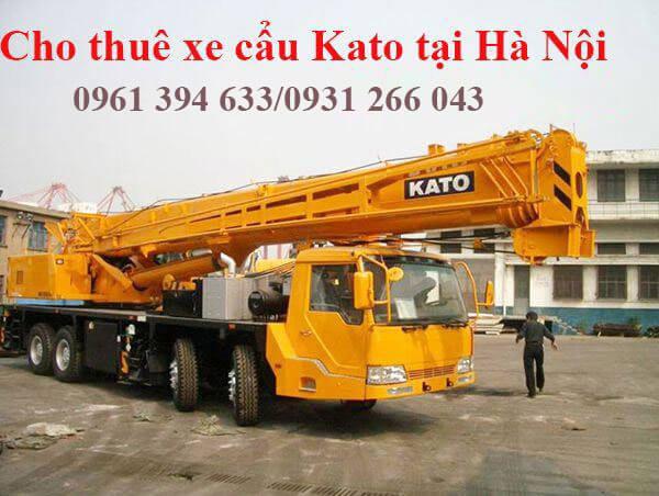 Cho thuê xe cẩu Kato giá rẻ nhất Hà Nội liên hệ 0961394633