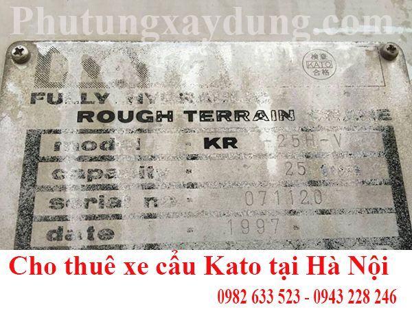 Bán và cho thuê xe cẩu bánh lốp Kato 25 tấn nhập khẩu Nhật Bản