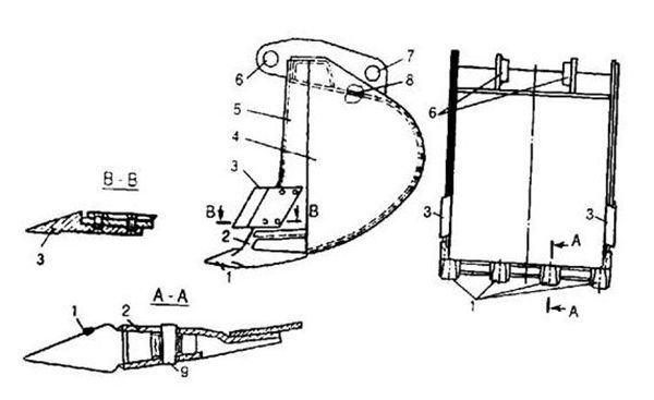 Máy đào gầu ngoạm quăng-1