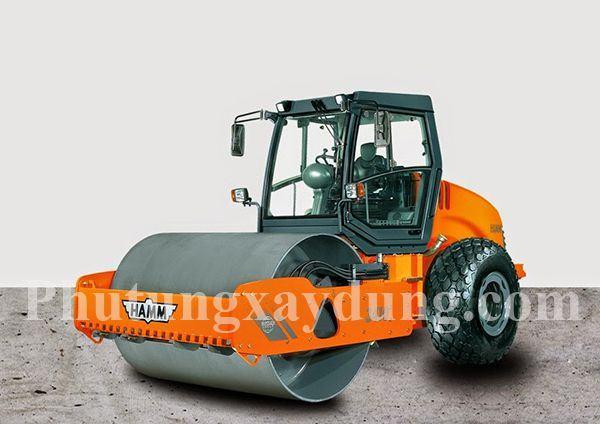 Xe lu rung Hamm 1 bánh sắt 3410, trọng tải 10,5 tấn