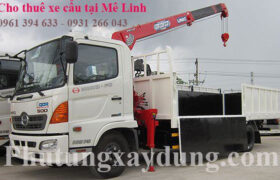 Cho thuê xe cẩu hàng tại huyện Mê Linh - Hà Nội giá ưu đãi