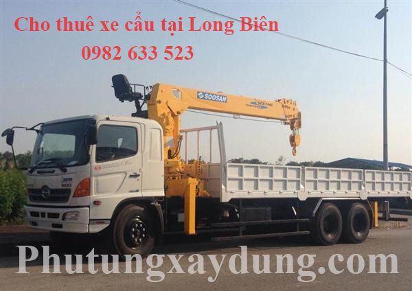 Cho thuê xe cẩu hàng, xe cẩu thùng tại Long Biên giá rẻ