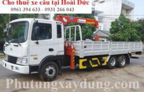 Dịch vụ cho thuê xe tải gắn cẩu tự hành huyện Hoài Đức - Hà Nội