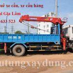 Dịch vụ cho thuê xe cẩu tại huyện Gia Lâm giá rẻ nhất