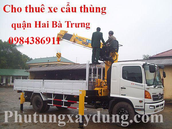 Dịch vụ cho thuê xe cẩu thùng quận Hai Bà Trưng - Hà Nội
