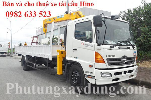 Xe tải gắn cẩu tự hành Hino