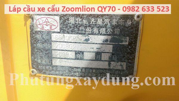 Láp cầu xe cẩu Zoomlion QY70 70 tấn-1