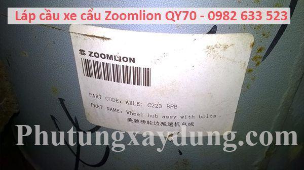 Láp cầu xe cẩu Zoomlion QY70 70 tấn-4