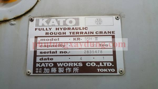 Bán cẩu bánh lốp Kato KR35H-3 trọng tải 35 tấn đời 1992-4